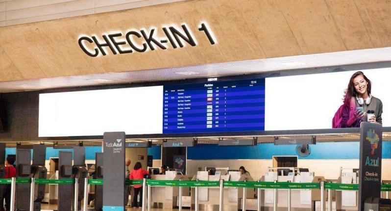 Fazer Anúncio no Painel de Led Piracicaba - Painel Led no Aeroporto Internacional de Salvador Ba