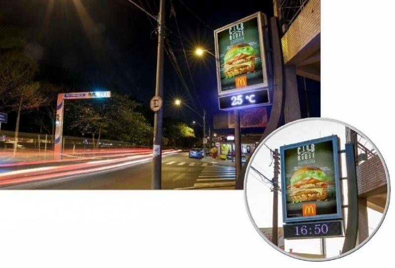 Fazer Anúncio no Relógio de Rua de Publicidade Pirassununga - Relógio Rua Digital Av Juracy Salvador