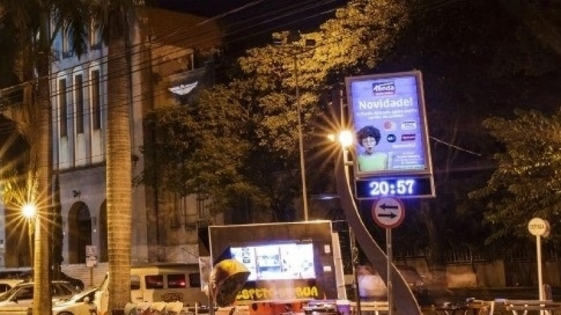 Fazer Anúncio no Relógio de Rua Propaganda Mogi Mirim - Relógio Rua Digital Av Juracy Salvador