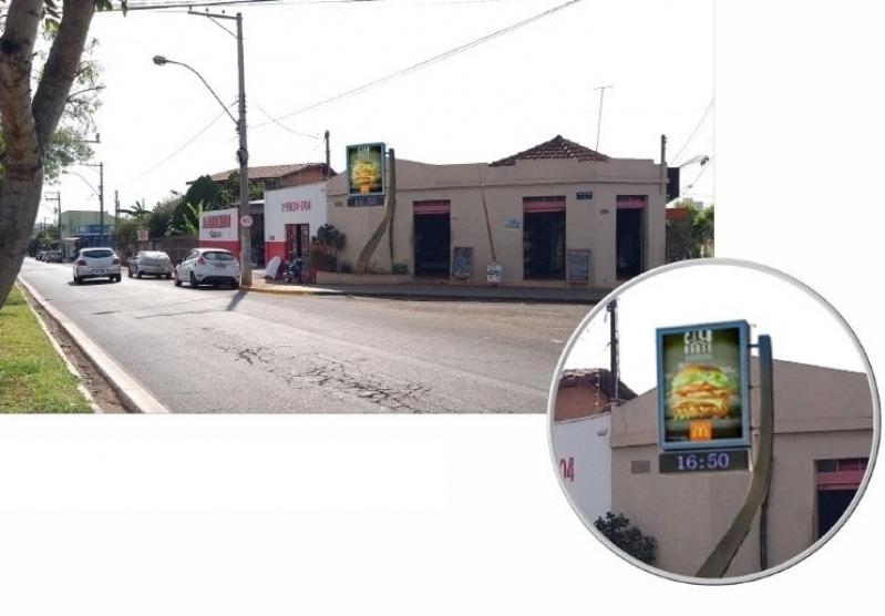 Locar Relógio de Rua Digital Santo André - Relógio de Rua Propaganda na Avenida Acm Salvador