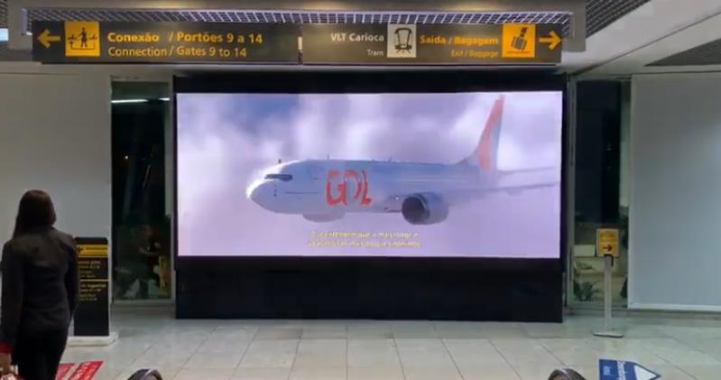 Painel de Led Cotar Rio Claro - Painel de Led Grande Aeroporto Internacional de Curitiba Pr