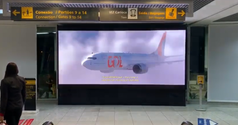 Painel Led no Desembarque Holambra - Painel Led no Aeroporto Internacional de Salvador Ba