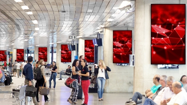 Painel Tela Led São Bernardo do Campo - Painel Testeira de Led Aeroporto de Sp Congonhas