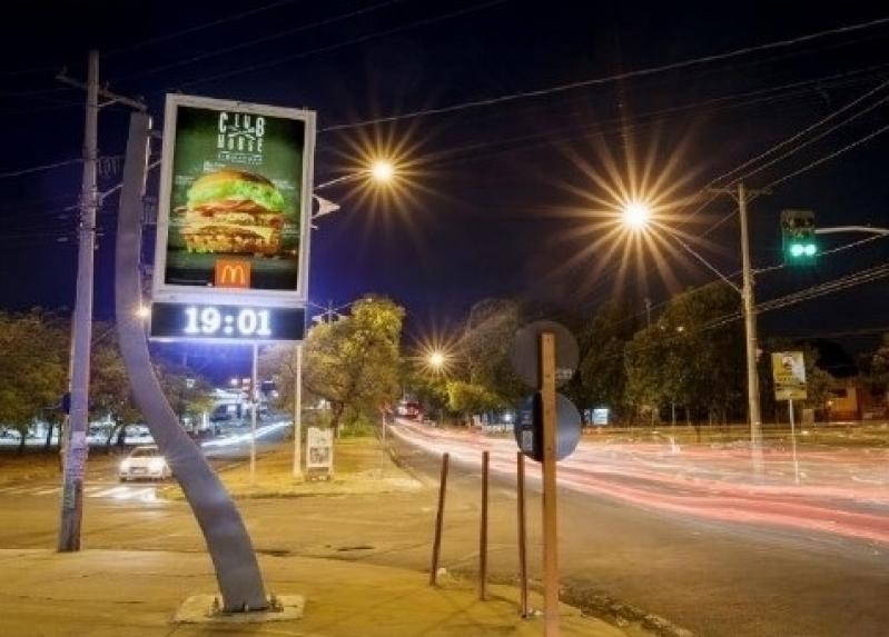 Relógio de Rua com Propaganda Preços Cubatão - Relógio Rua Digital Av Juracy Salvador