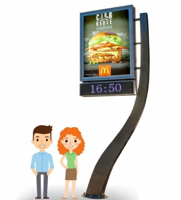 Relógio de Rua para Publicidade Araras - Relógio Rua Digital Av Juracy Salvador