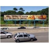 locação de outdoor campanha eleitoral Araçariguama