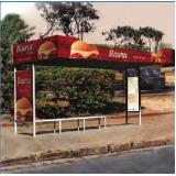 locar pontos de ônibus de propaganda Ilha Bela