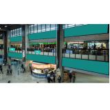 mídia e painel aeroporto Santo André