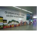 mídias e painéis aeroporto São Vicente