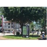 mobiliário urbano totem de anúncio orçamento Cruzeiro