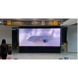 painel led no desembarque no aeroporto do rj santos dumont