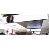 painel led no embarque aeroporto internacional de natal rn