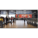 painel e midia para aeroportos Campinas