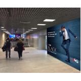 publicidade no aeroporto