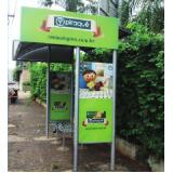 pontos de ônibus de propaganda orçamento Itanhaém