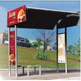 pontos de ônibus para propaganda cotação Pedreira