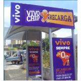 pontos de ônibus para propaganda orçamento Lençóis Paulista