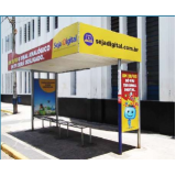 pontos de ônibus propaganda cotação Santa Isabel