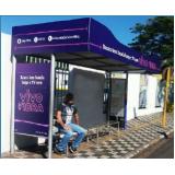 pontos de ônibus propaganda Jaguariúna