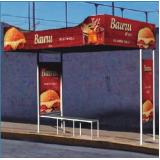 pontos de ônibus publicidade abrigo cotação Mongaguá