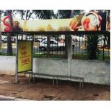 pontos de ônibus publicidade cotação Franca