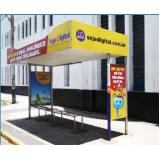 pontos de ônibus publicidade orçamento Holambra