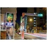 relógio de rua com propaganda Indaiatuba