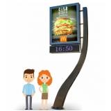relógio de rua para publicidade Araras