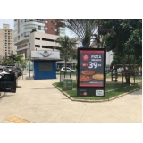 totem de rua com publicidade Mongaguá