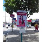 totem de rua para anúncio Serra Azul