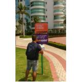 totem de rua propaganda valores Taboão da Serra