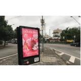 totem de rua publicidade Santos