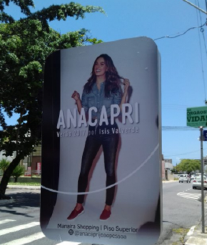 Totem de Rua com Propaganda Valores Paraibuna - Totem de Rua para Propaganda Salvador
