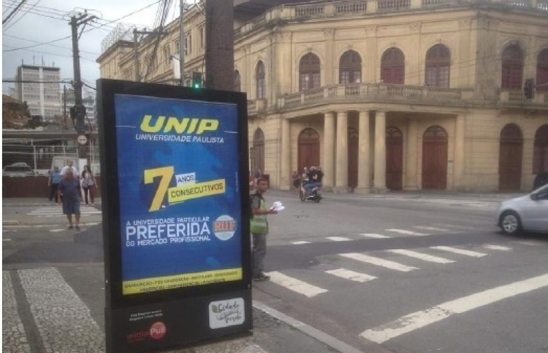 Totem de Rua para Propaganda Cruzeiro - Totem de Rua Digital Av Juracy de Salvador