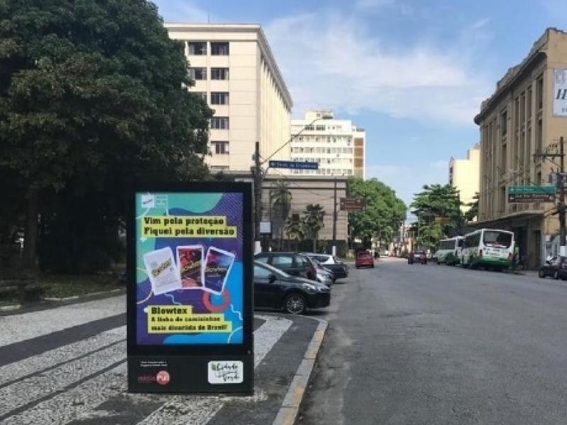 Totem de Rua Vertical Valores Aparecida - Totem de Rua Publicidade em Salvador